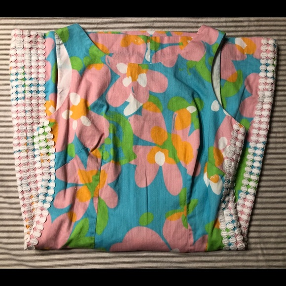 Lilly Pulitzer Sz 4 Pastel Shift Dress Ex.Cond